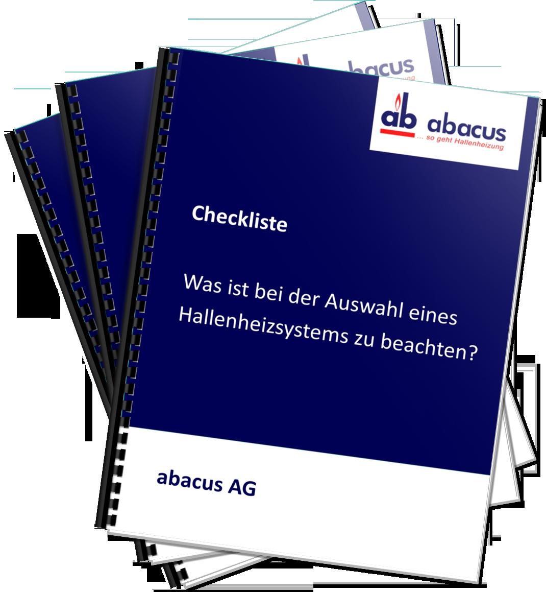 Checkliste - Hallenheisysteme