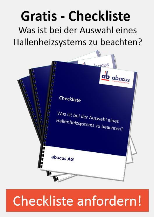 Checkliste - Hallenheizsysteme